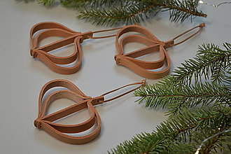 Dekorácie - Leather ornament - II (Leather ornament - II (3 ks)) - 13779742_