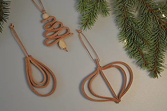 Dekorácie - Leather ornament - SET - 13779772_