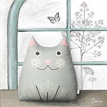 Úžitkový textil - Vankúš mačka Dona - 13779107_