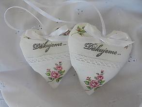 Darčeky pre svadobčanov - Svadobné srdiečko - 13778618_