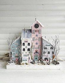 Dekorácie - Zimná dedinka - 13783110_