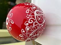 Kresby - Vianoce - červené vianočné gule - 13780637_