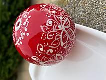 Kresby - Vianoce - červené vianočné gule - 13780639_