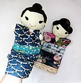 Hračky - Maňuška Japonka v (NE)tradičnom kimone (na objednávku) - 13781429_