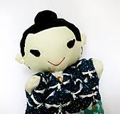Hračky - Maňuška Japonka v (NE)tradičnom kimone (na objednávku) - 13781438_
