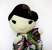 Hračky - Maňuška Japonka v (NE)tradičnom kimone (na objednávku) - 13781439_