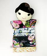 Hračky - Maňuška Japonka v (NE)tradičnom kimone (na objednávku) - 13781440_