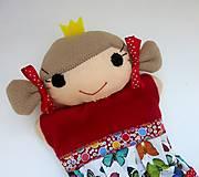 Hračky - Maňuška princezná (v motýlikovej sukienke) - 13782317_