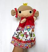Hračky - Maňuška princezná (v motýlikovej sukienke) - 13782319_
