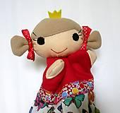 Hračky - Maňuška princezná (v motýlikovej sukienke) - 13782320_