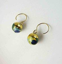 Náušnice - Tana šperky - keramika/zlato - 13781595_
