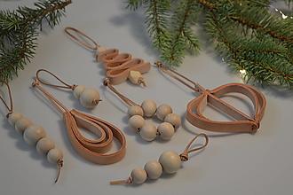 Dekorácie - Leather ornament SET - I - 13782279_