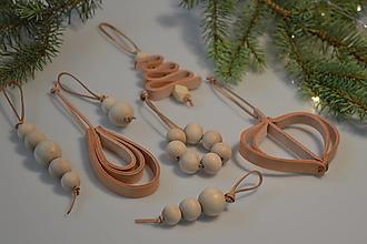Dekorácie - Leather ornament SET - II - 13782352_