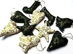 Dekorácie - Vianočné sada v zelenom - 13780162_