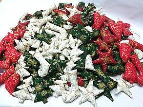 Dekorácie - Vianočné ozdoby v zlatom - 13780165_