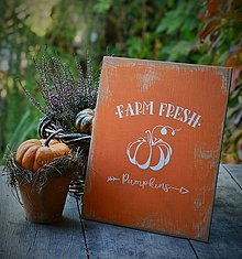Tabuľky - Jesenná tabuľka oranžová - 13786345_