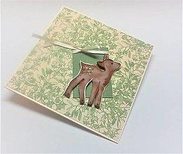 Papiernictvo - Pohľadnica ... vianočná srnka - 13788418_