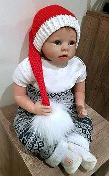 Detské čiapky - Mikulášska čiapka - 13788637_