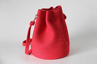 Kabelky - Provazová kabelka červená - 13786643_