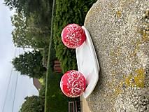 Kresby - Vianoce - červené vianočné gule - 13787315_