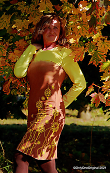 Šaty - Dámske šaty šité, batikované, maľované MAKOVIČKY - 13785349_