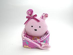 Hračky - RECY-UPCY mojkadlá pre najmenších (Medvedík ružový) - 13787162_