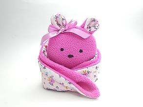 Hračky - RECY-UPCY mojkadlá pre najmenších (Medvedík s kvetinkami) - 13787175_