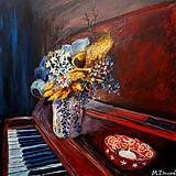 Obrazy - Nočné piesne, akrylová maľba. - 13787439_