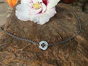 Náhrdelníky - náhrdelník so štvorlístkom - oceľ - 13786378_