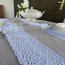 Úžitkový textil - Ľanová štóla Scarlet - 13785751_