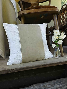 Úžitkový textil - Ľanová obliečka na vankúš Scarlet - 13785923_