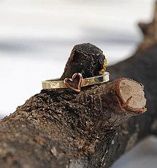 Prstene - 1x alebo prstienok so srdiečkom (50 - 53) - 13790902_