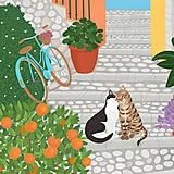Grafika - Nedělní ráno - umělecký tisk - 13790860_