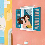 Grafika - Nedělní ráno - umělecký tisk - 13790861_