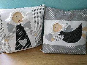 Úžitkový textil - Vankúše s anjelikmi - 13790218_