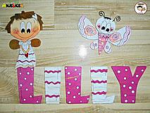 Tabuľky - Nápis - Lilly - 13790568_