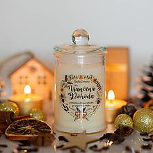 Svietidlá a sviečky - Sviečka zo sójového vosku v skle - Vianočná Pohoda - 13789904_