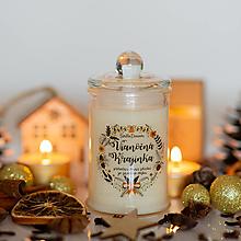 Svietidlá a sviečky - Sviečka zo sójového vosku v skle - Vianočná Krajinka 125g/30hod - 13790636_