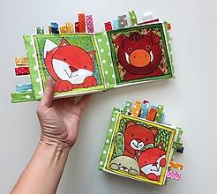 Hračky - Textilná knižočka  (Zvieratká z lesa) - 13791320_