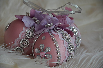Dekorácie - Vianočné gule - sada 6 ks - 13791303_