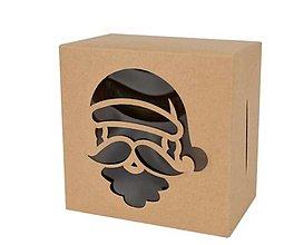 Obalový materiál - Krabička vianočná 10 x 10 x 6 cm  (Santa) - 13792452_