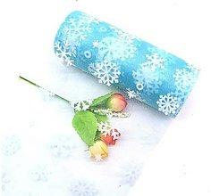 Galantéria - Stuha široká vianočná organzová 15 cm (Modrá) - 13792505_