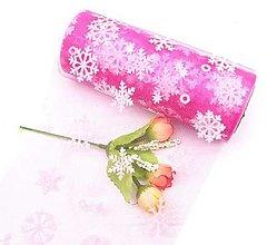 Galantéria - Stuha široká vianočná organzová 15 cm (Ružová) - 13792509_