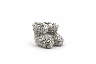 Detské topánky - Sivé papučky ALPACA - 13790688_