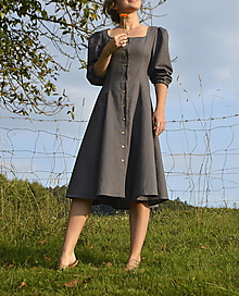 Šaty - Ľanové šaty Zdenka - 13791703_