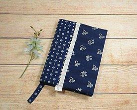 Papiernictvo - Modrotlačový obal na knihu 1 - 13789451_