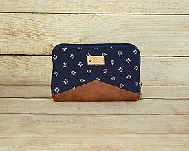 Peňaženky - Modrotlačová peňaženka na zips Miša 5 - 13789515_