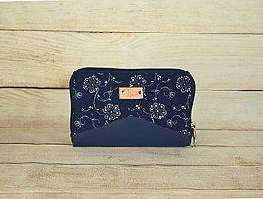 Peňaženky - Modrotlačová peňaženka na zips Miša 6 - 13789535_