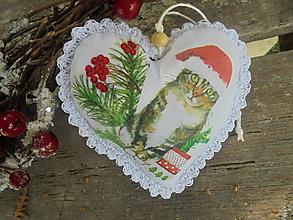 Dekorácie - Srdiečko na stromček-11x11cm - 13789848_