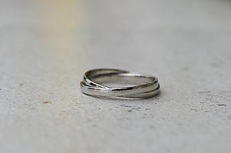 Prstene - Spletený prstienok biely - 13794707_